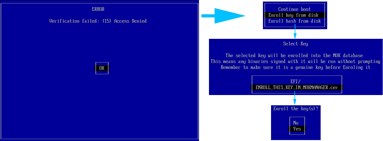 Secure Boot Enroll Key